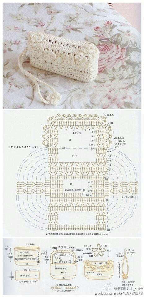 Crochet Purse - Chart ❥ 4U hilariafina http://www.pinterest.com ...