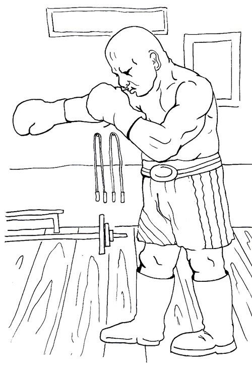 Boxing Coloring Page Coloring Pages Coloring Pages For Kids Free Coloring Pages
