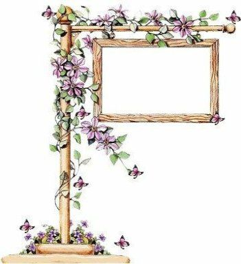 floral sign clipart