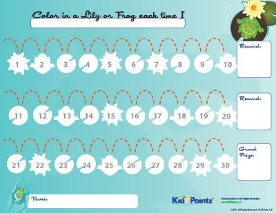 Free Printable Reward Charts Kid Pointz Kindergarten - free printable reward charts for kids