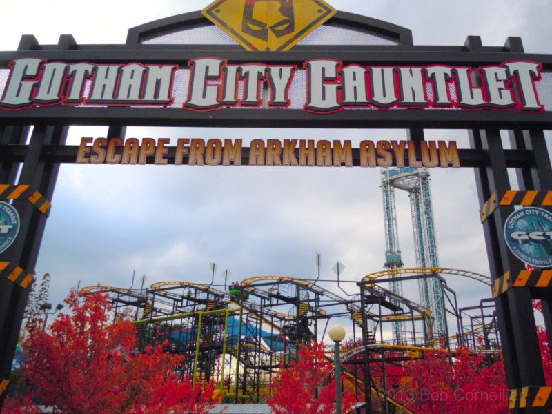 Gotham City Gauntlet Roller Coaster At Six Flags New England