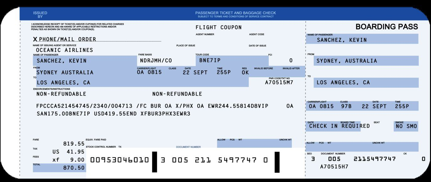 Nice Flight 815 Boarding Pass By Aymo87 On DeviantArt · Ticket Template Free Templates ... Intended For Fake Airline Ticket Maker