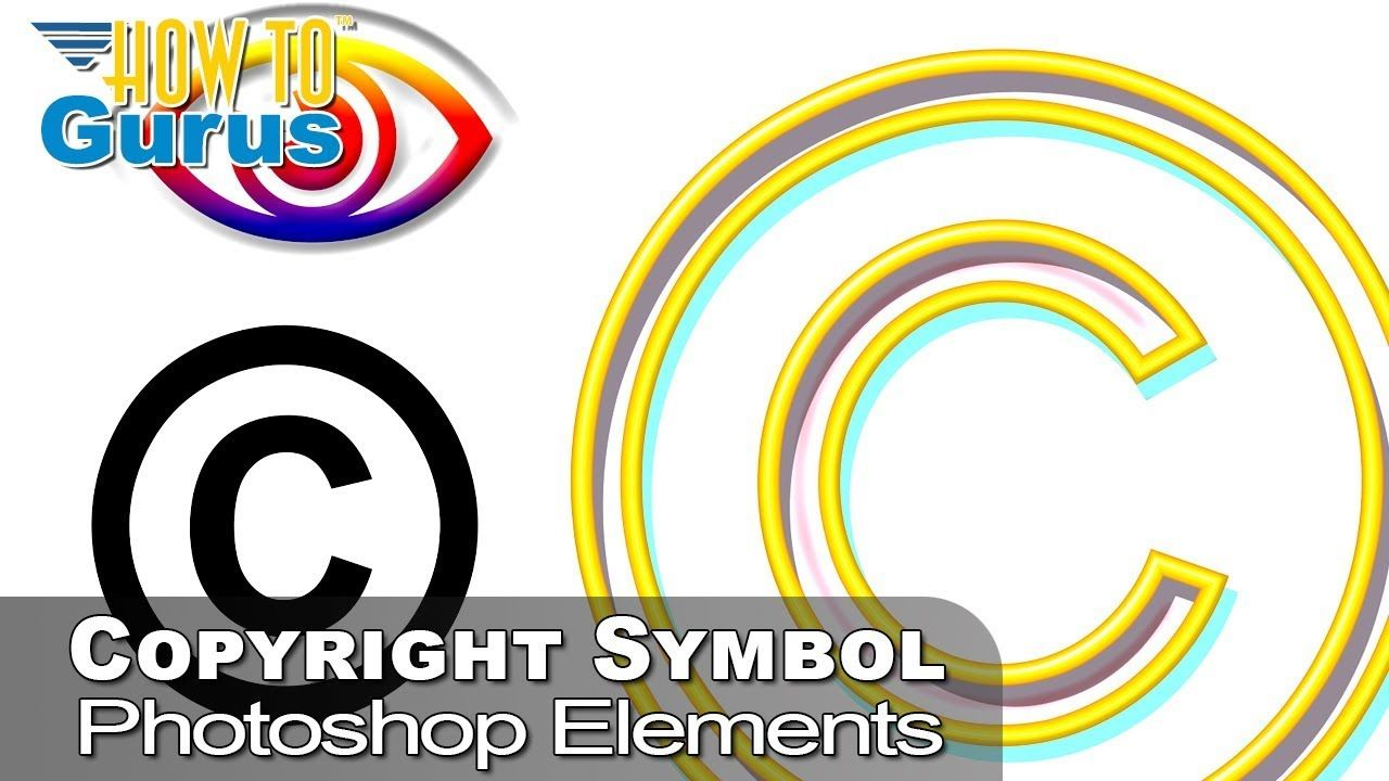 How to type a elements copyright symbol and make