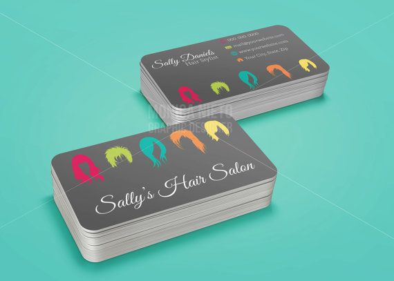 Printable hair salon business card hair stylist business cards custom printable hair salon business card template accmission Images