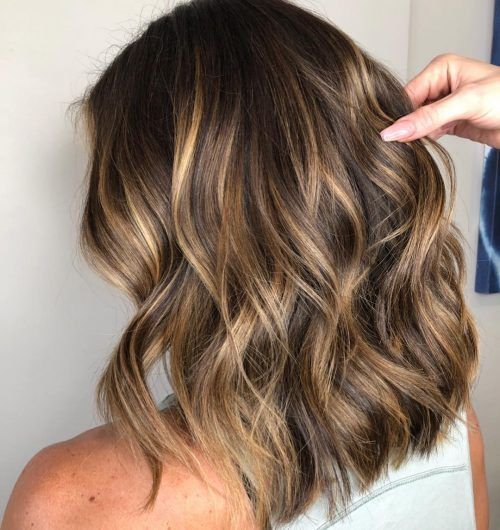 40+ Medium length balayage hair trends