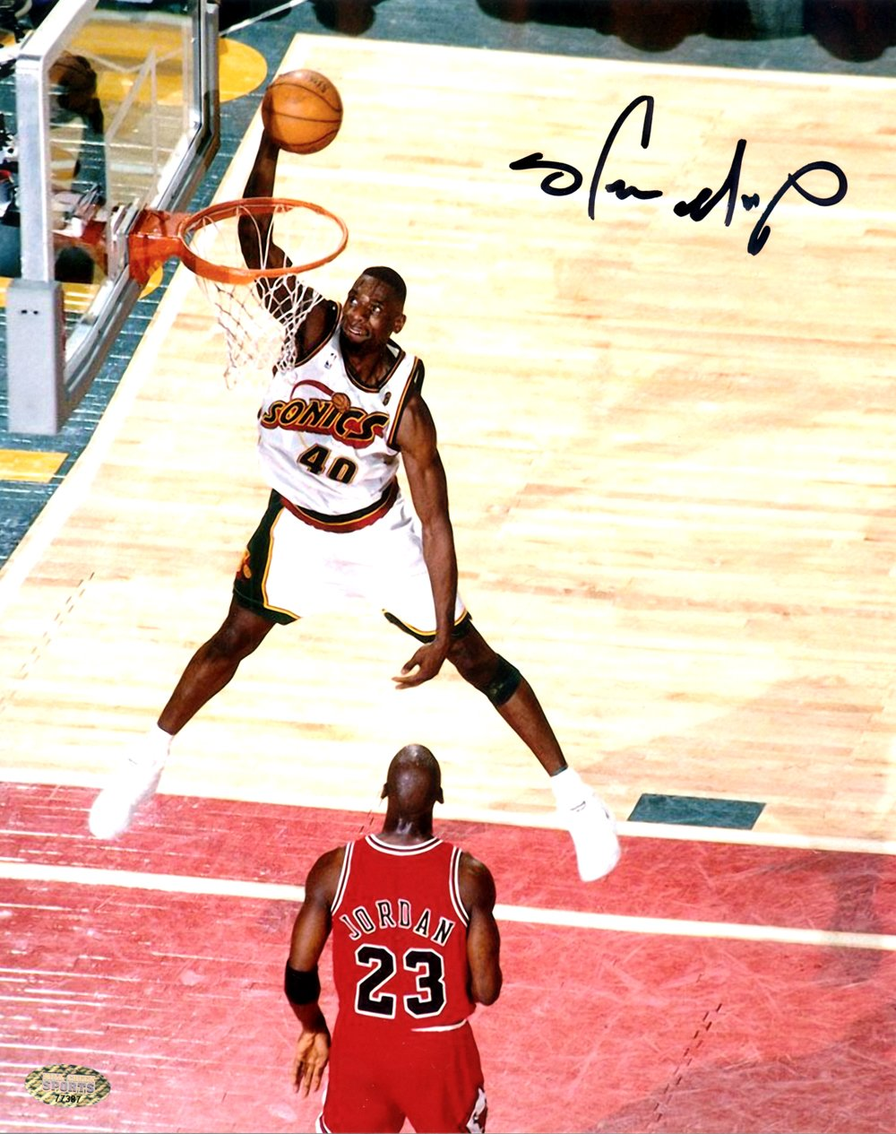 Shawn Kemp Autographed 8x10 Photo Seattle Sonics Sports Basketball Nba Nba Legends