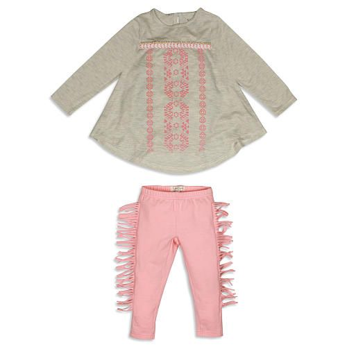 Jessica Simpson Baby Clothes Glamorous Jessica Simpson Girls 2 Piece Greypink Printed Tunic And Pink Review