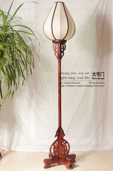 Chinese Wooden Lanterns Chinese Rustic Style Floor Lamp