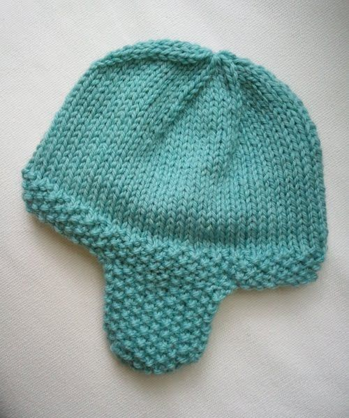 Seed Stitch Ear flap Hat | Baby hats knitting, Baby hat ...
