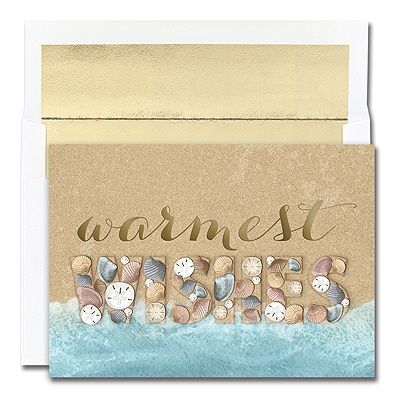 Shell Wishes Warmest Wishes Boxed Holiday Card