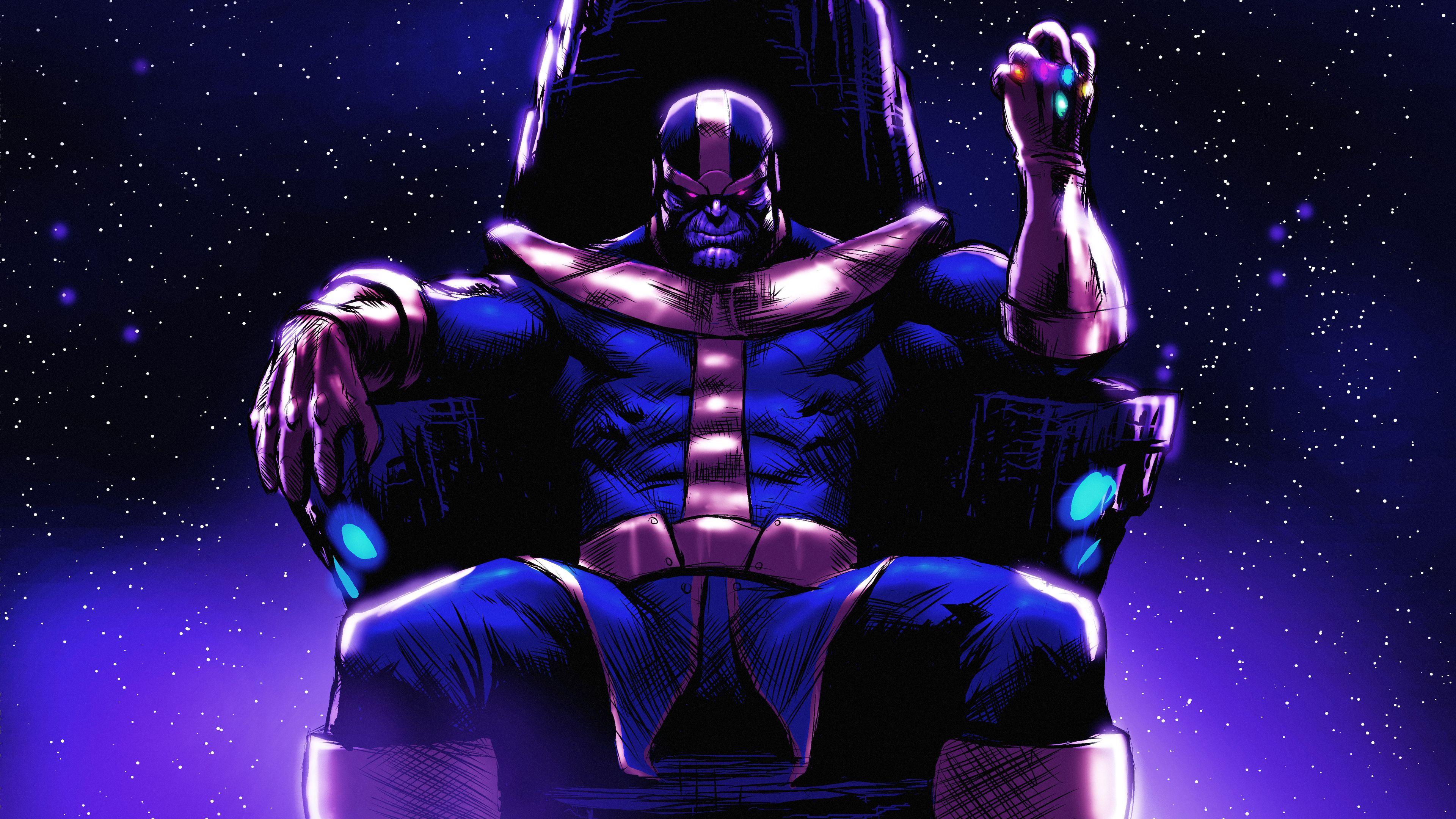 Thanos On His Throne Thanos Wallpapers Superheroes Wallpapers Hd Wallpapers Digital Art Wallpapers Deviantart Wallpapers Art Wallpaper Hero Wallpaper Art