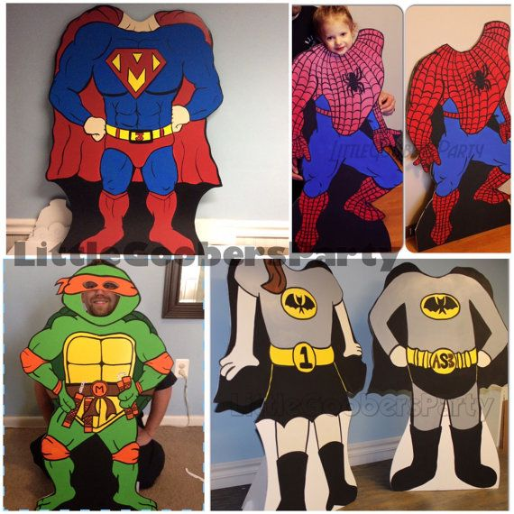 Superhero Birthday Photo Booth Props . 1 by ...