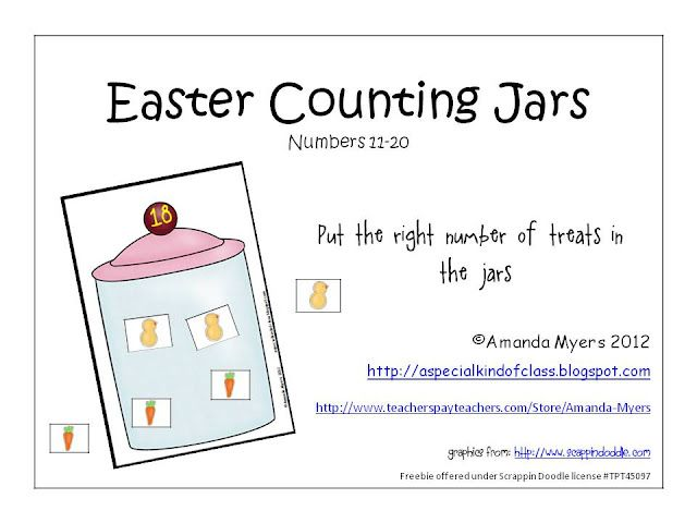 Easter counting jars easter jar and kindergarten teacher easter counting jars negle Image collections