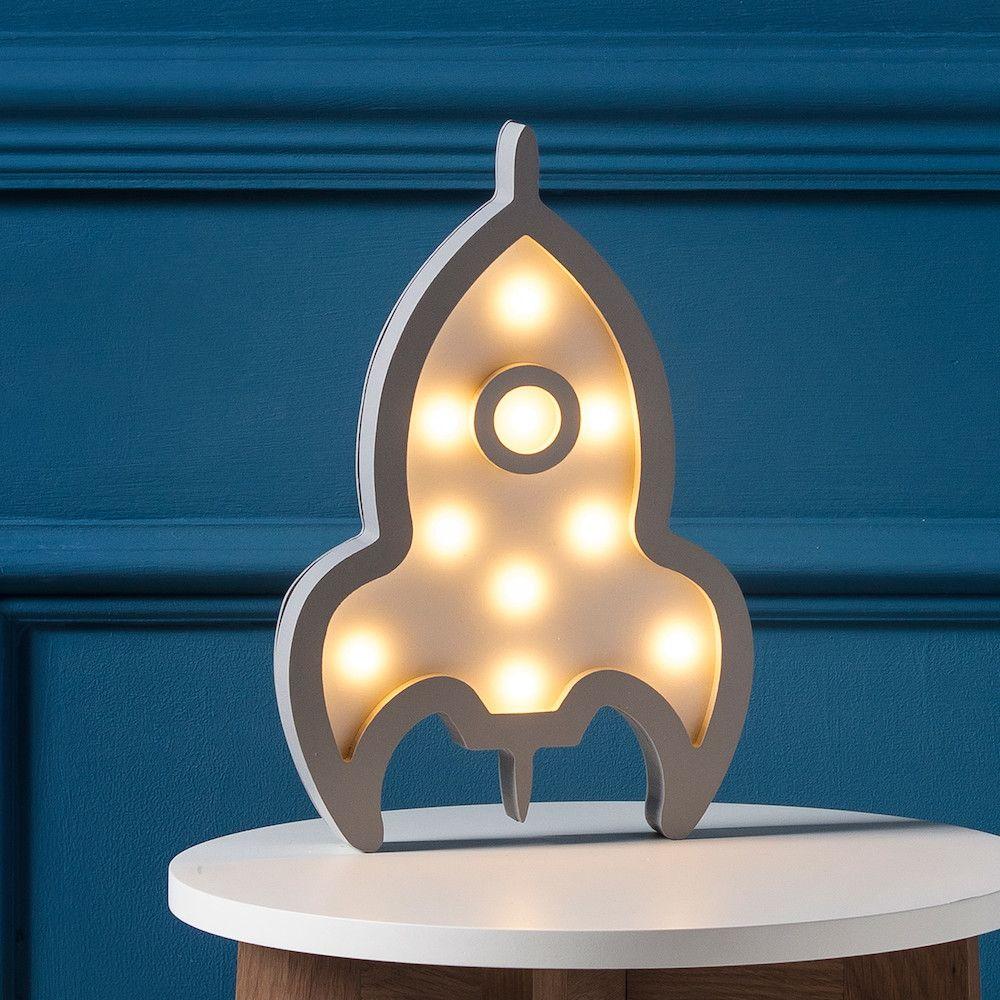 Cosmos Rocket Battery Night Light   Bedroom night light ...