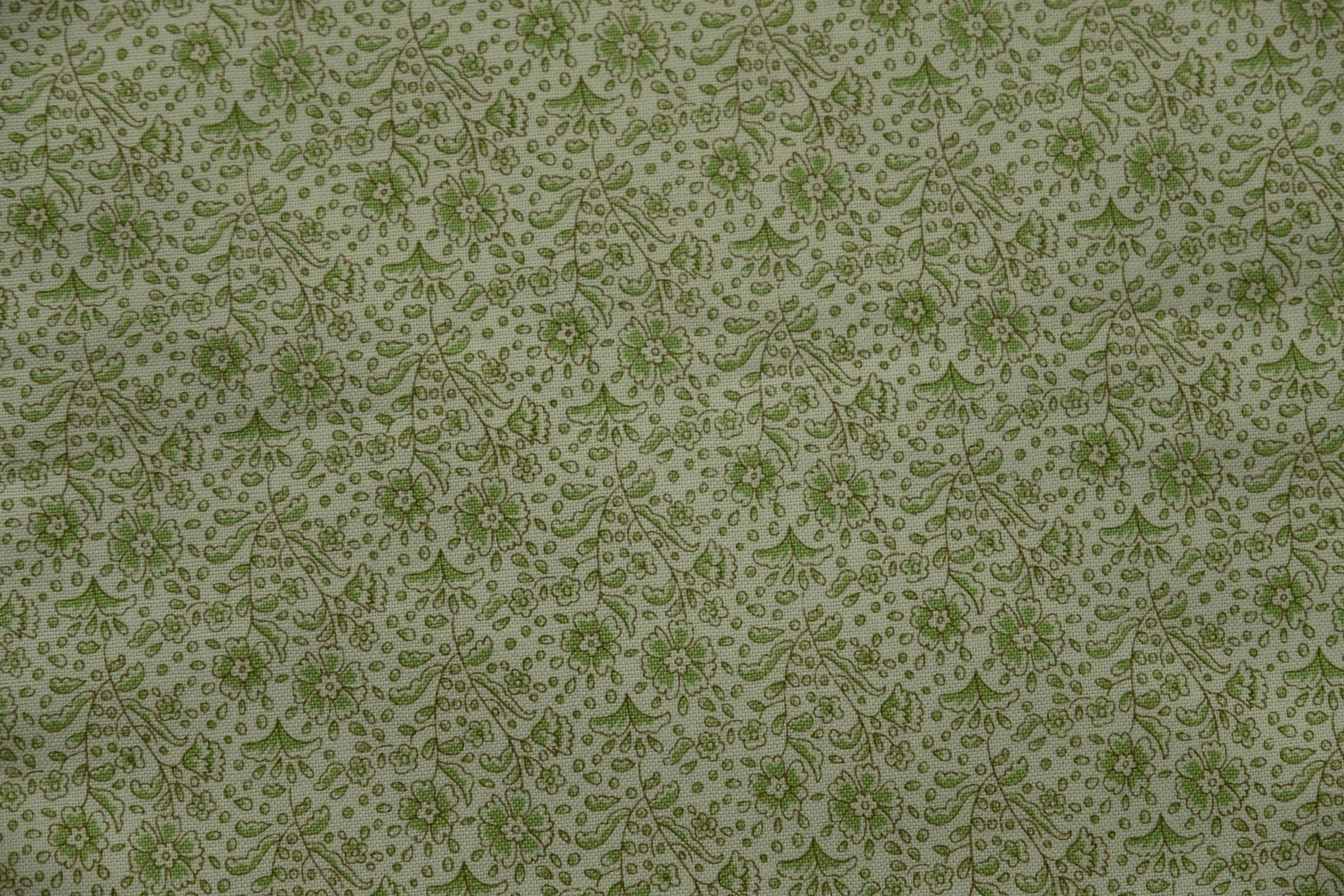 Fabric from Tilda, Bird Pond Collection, Mila Sage Green 100095 - 1 yd. cut