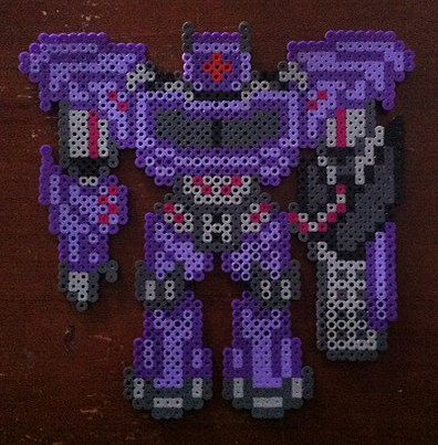 Tfp Shockwave Transformer Perler Beads By Lottadots On Etsy