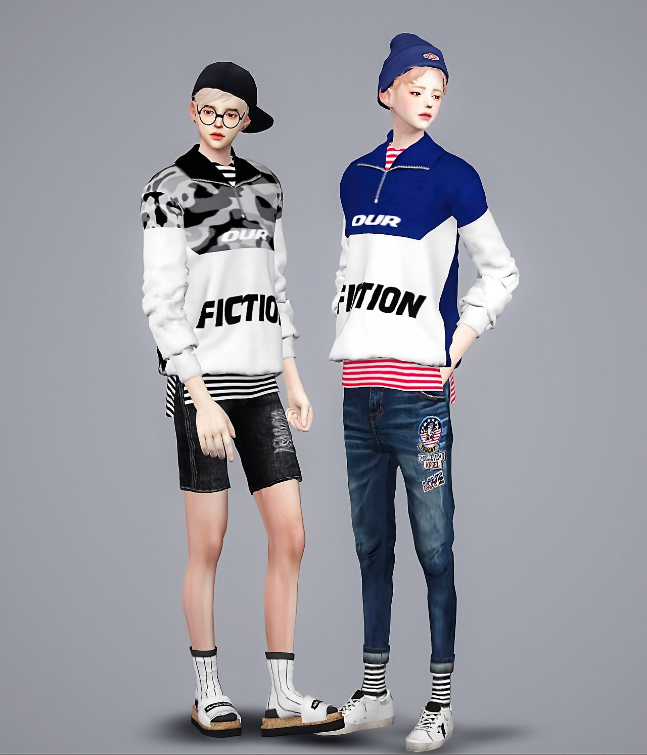 M Jin casual top | Meeyou | Sims 4 - Clothes (Males ...
