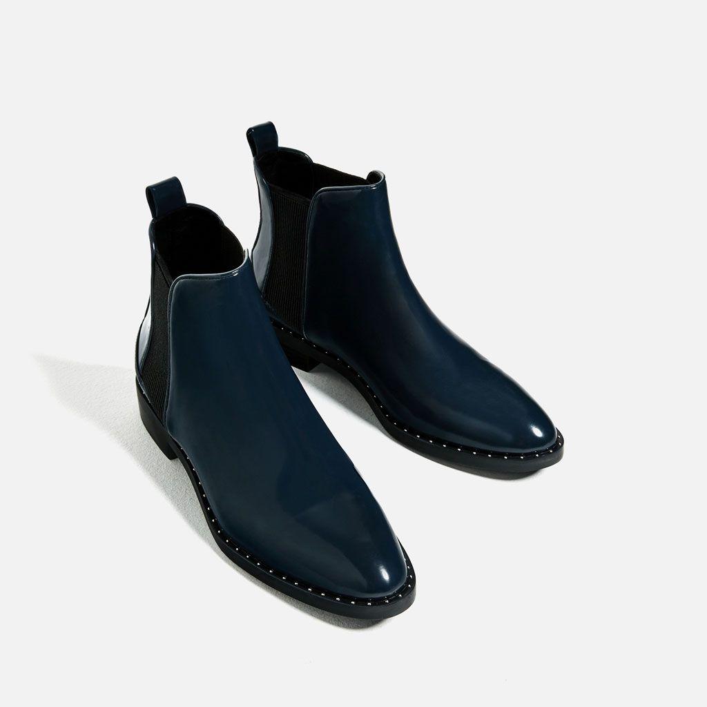 bottines plates clout es tout voir chaussures femme zara. Black Bedroom Furniture Sets. Home Design Ideas