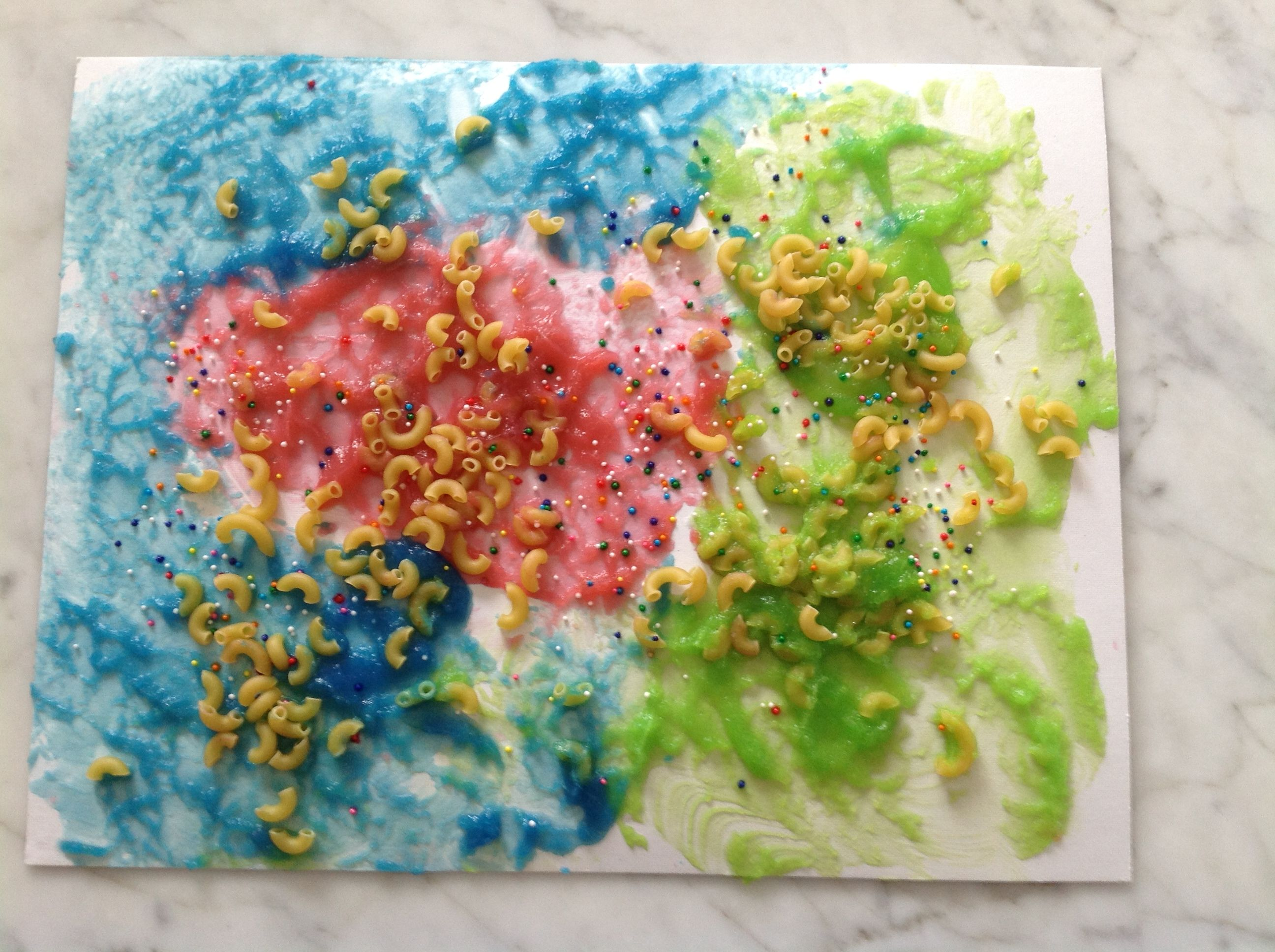 This fun art activity for kids who are blind or visually for Sponge painting for kids pictures