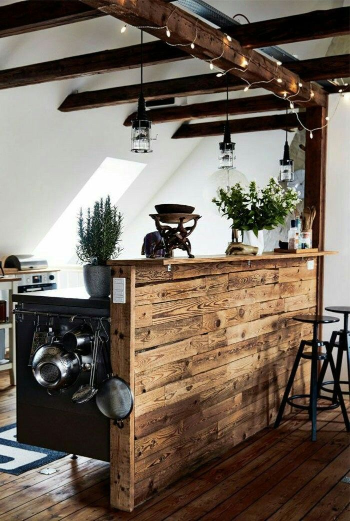 restaurante por Fiorella Cereghino | Barra de bar en casa ...