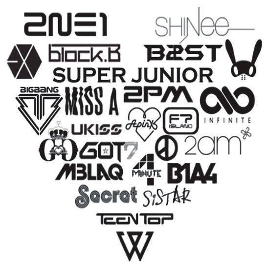 Kpop Group Logos By Totoroxkawaii Papel De Fundo Papel De Parede Com Fundo Preto Amor A Musica
