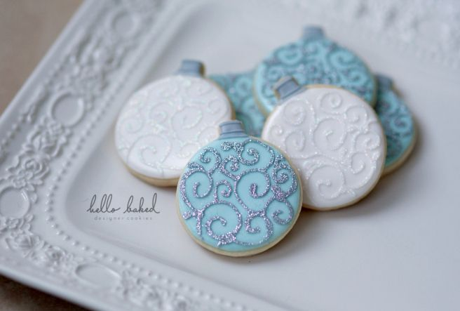 Christmas ornaments cookies - hello baked