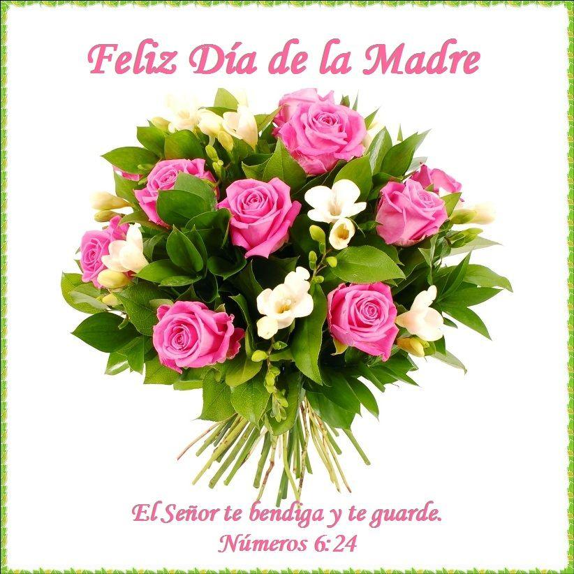 Tarjeta Cristiana Para Madre Jpg 822 822 Summer Flower Bouquet Pink Rose Bouquet Pink Flower Bouquet