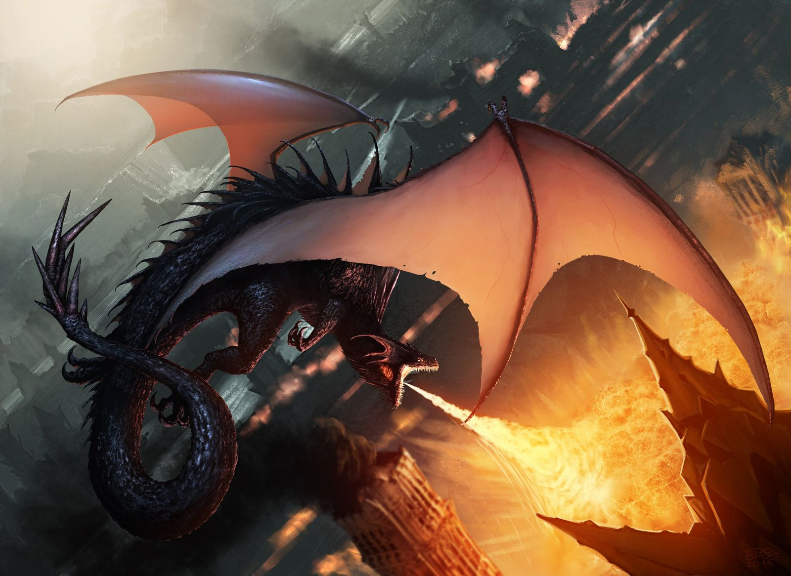 Dragon+attack+by+edsfox deviantart com+on+@deviantART | Comics