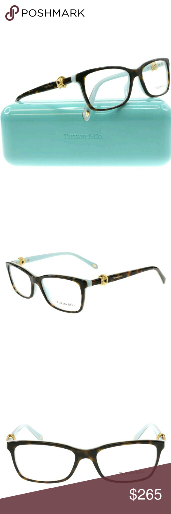Tiffany & Co Eyeglasses New and authentic Brown and teal frame 53-16 ...