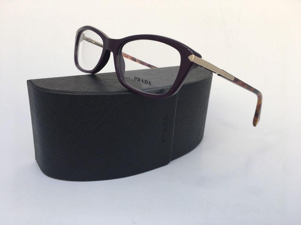 48c68f09f3 🌹PRADA Frames VPR 04P ROM-101 Violet Havana Cat Eye Women Eyeglasses 52 mm