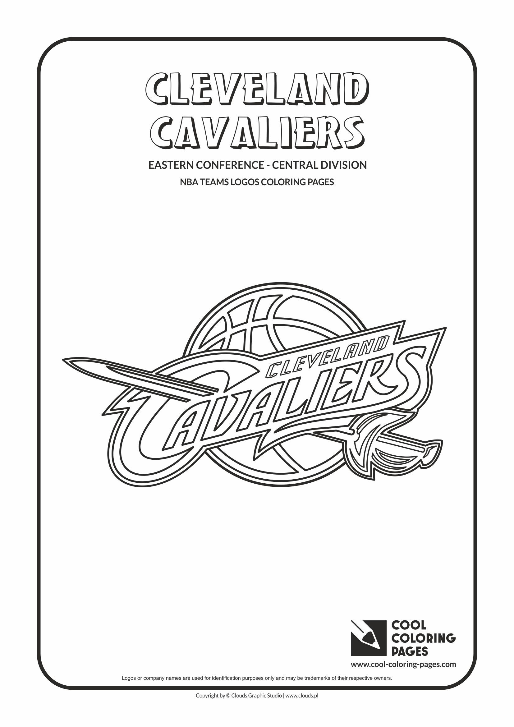 cool coloring pages nba teams logos cleveland cavaliers logo coloring page - Cleveland Sports Coloring Book