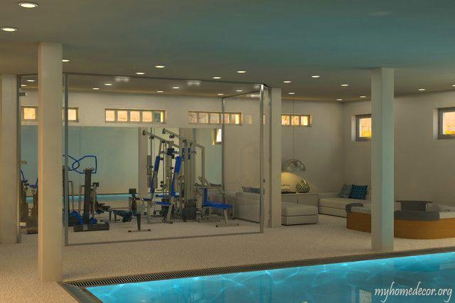 Amazing Home Gym overlooking Indoor Pool