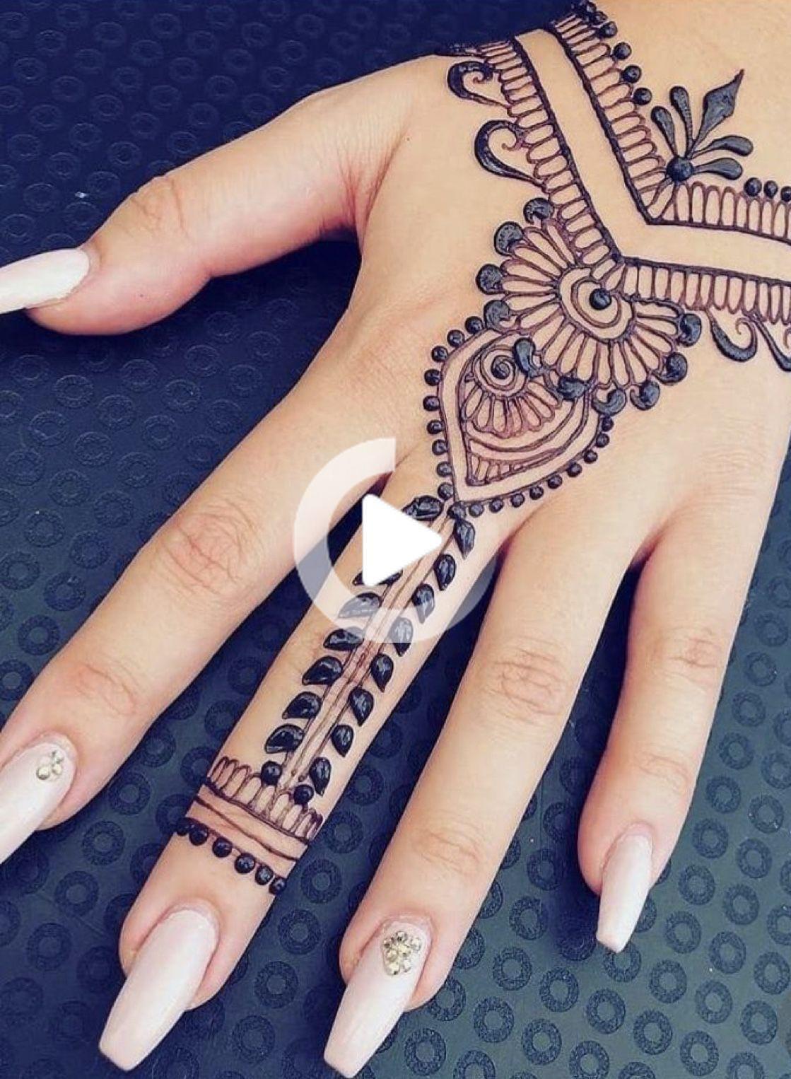 Beginner Henna Designs Easy Hand In 2020 Henna Designs Feet Henna Tattoo Designs Simple Henna Tattoo Designs