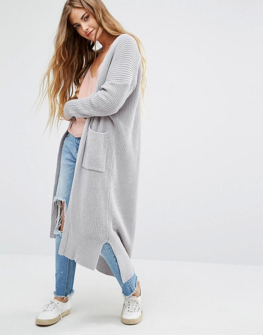 Honey Punch | Honey Punch Oversized Longline Cardigan at ASOS ...