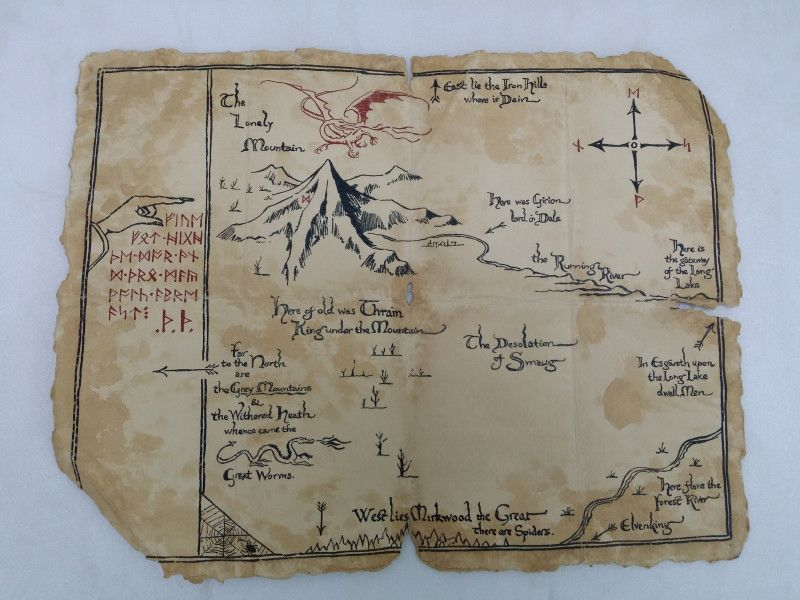 thorins map from the hobbit