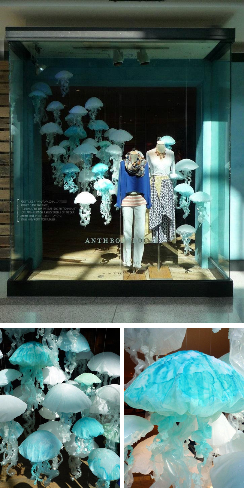 a tour of anthropologie 39 s earth day 2012 window displays under the sea. Black Bedroom Furniture Sets. Home Design Ideas