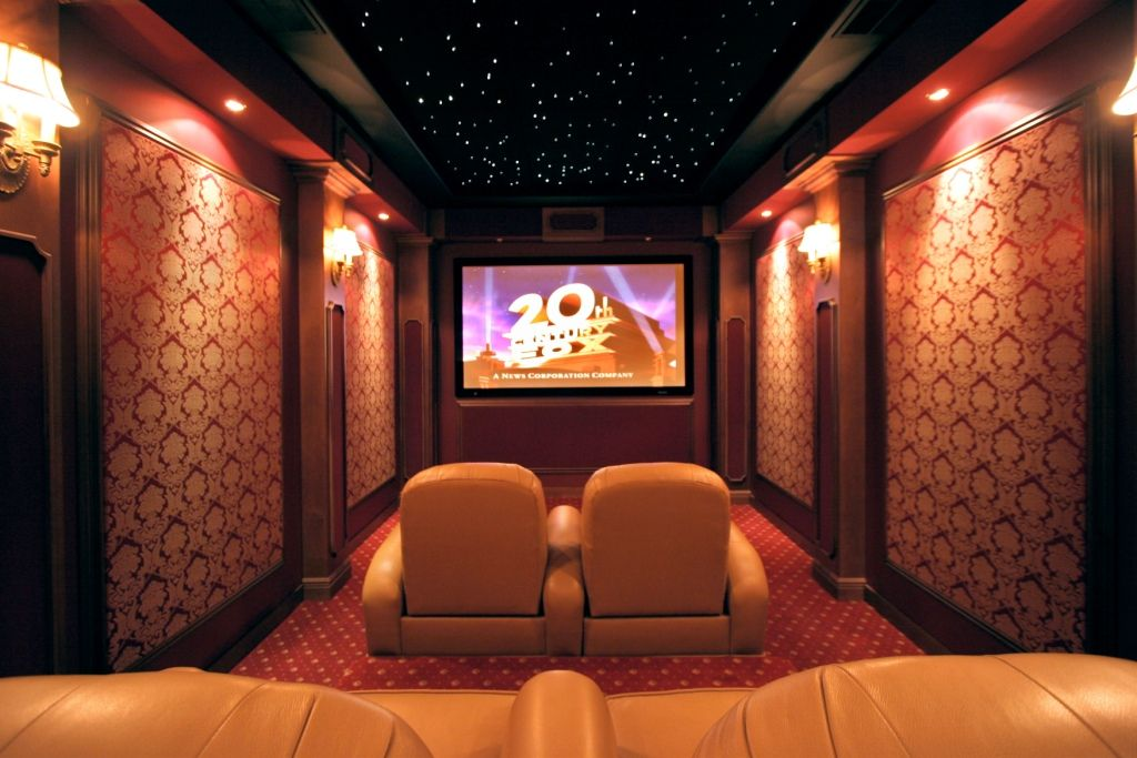 Home Theater Rooms Design Ideas ideas home theater designed by blue cream leather seat on blue rug also home movie theater design 1000 Images About Home Cinema On Pinterest Cinema Boutique Hotels And Home Theaters
