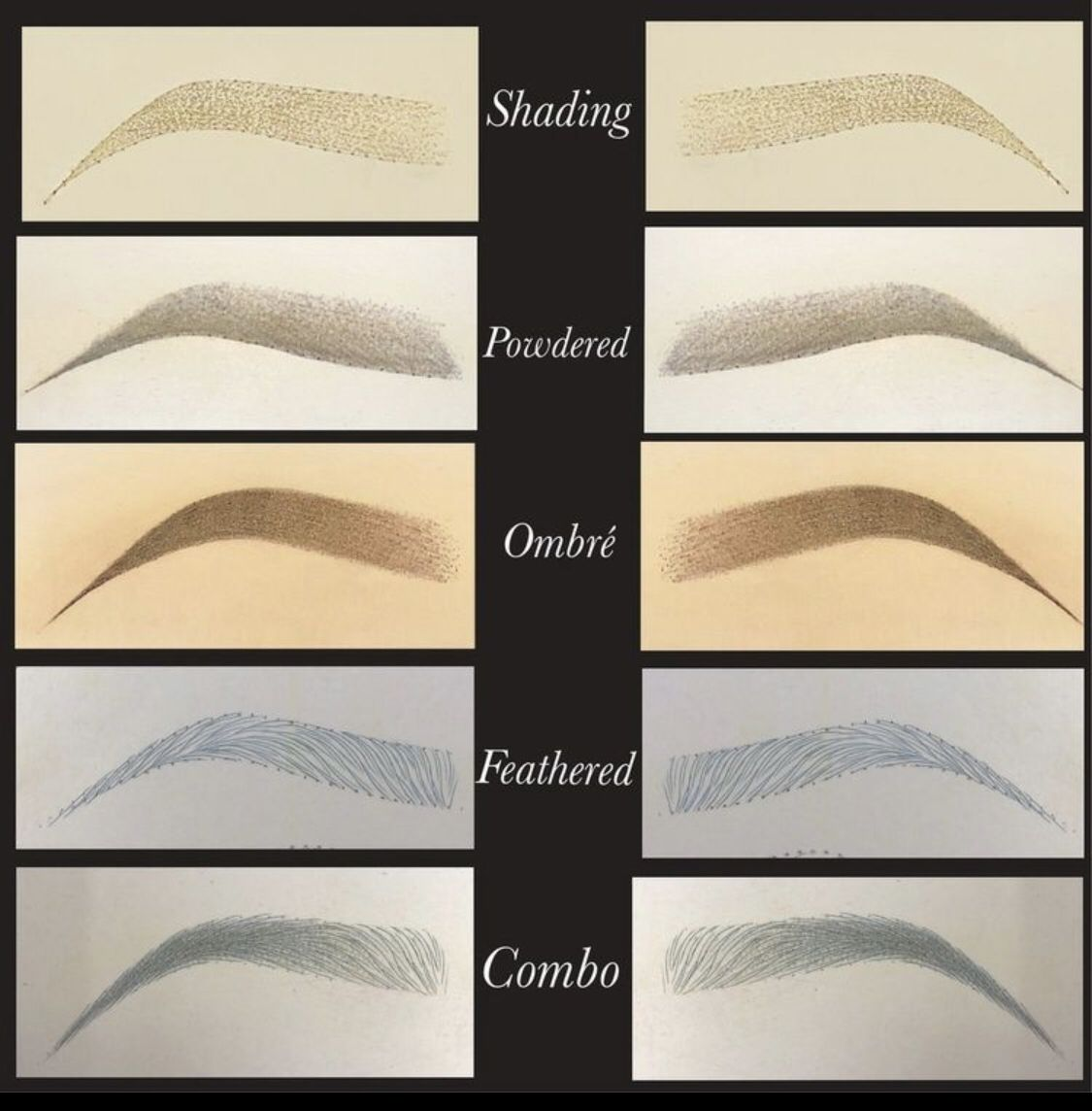 Different types of eyebrows eyebrow makeup semi