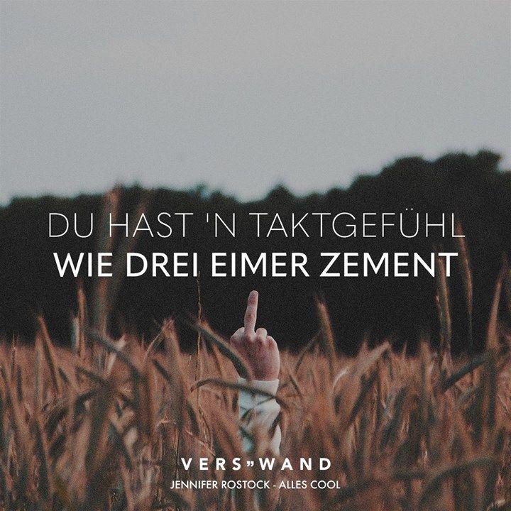 Photo of Visual Statements®️ Du hast 'n Taktgefühl wie drei Eimer Zement. – Jennifer …