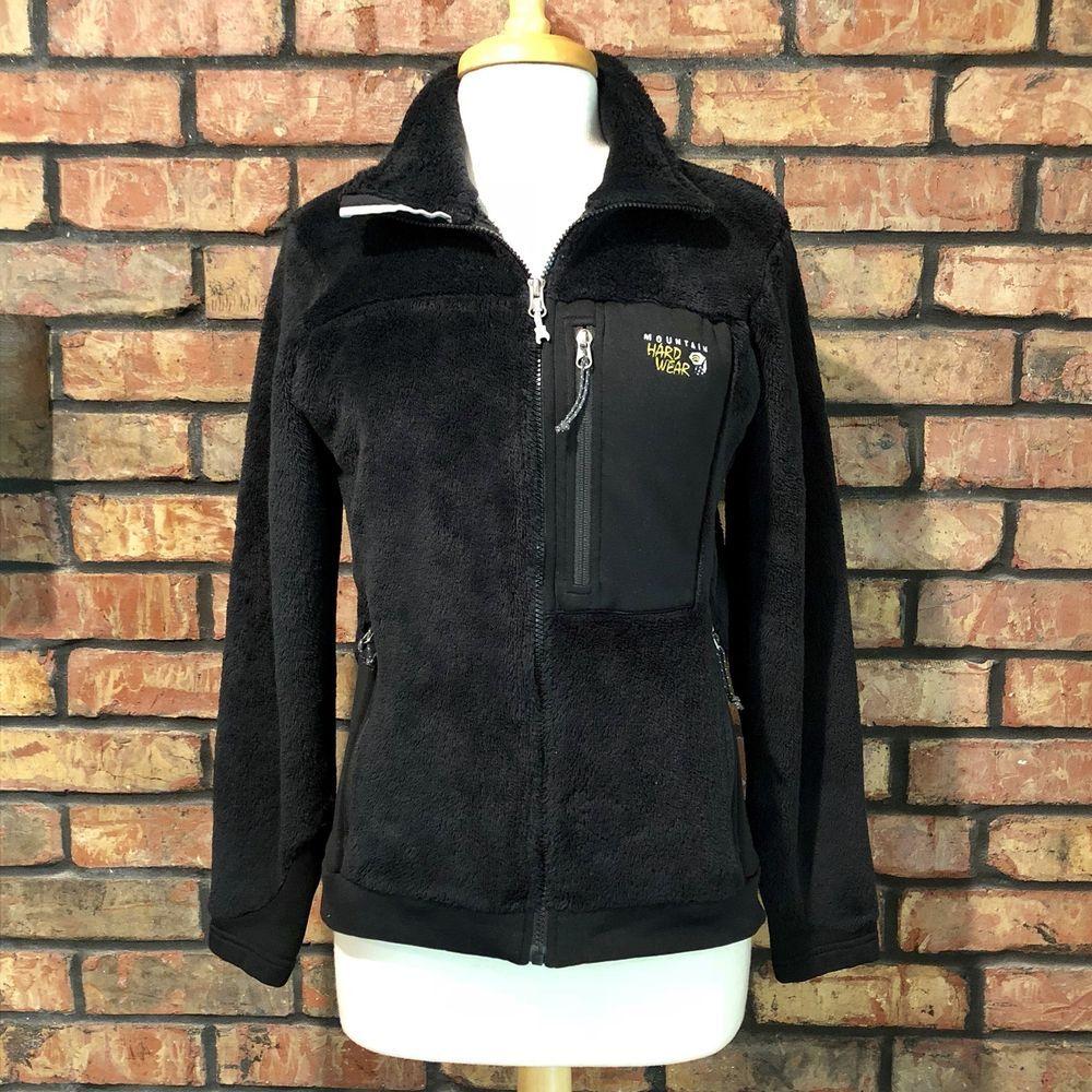 Mountain hardwear womens size medium monkey fleece jacket black