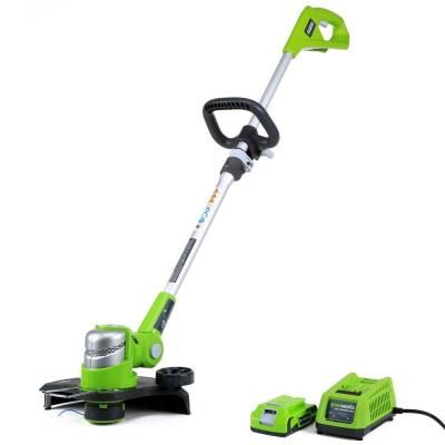 Greenworks G 24 24 Volt Cordless String Trimmer Battery And Charger Included In 2019 Products Lawn Edger Outdoor Power Equipment Lawn