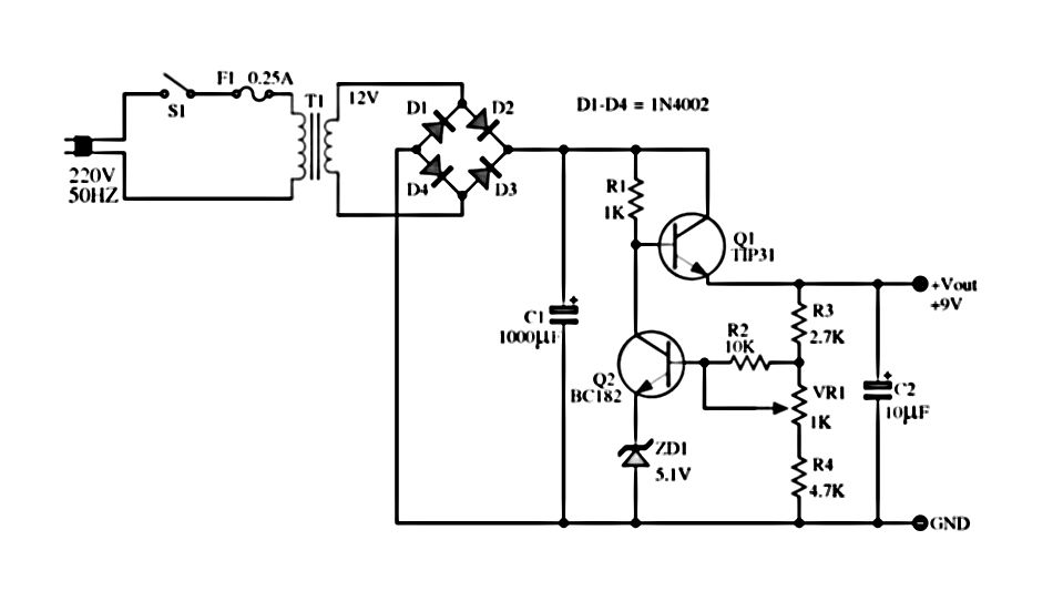 Adjustable Power Supply Circuit