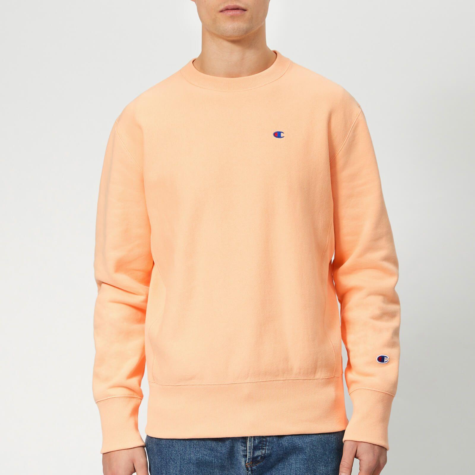 Champion Men Crew Neck Sweatshirt Sweatshirts Long Sleeve Tshirt Men [ 1600 x 1600 Pixel ]