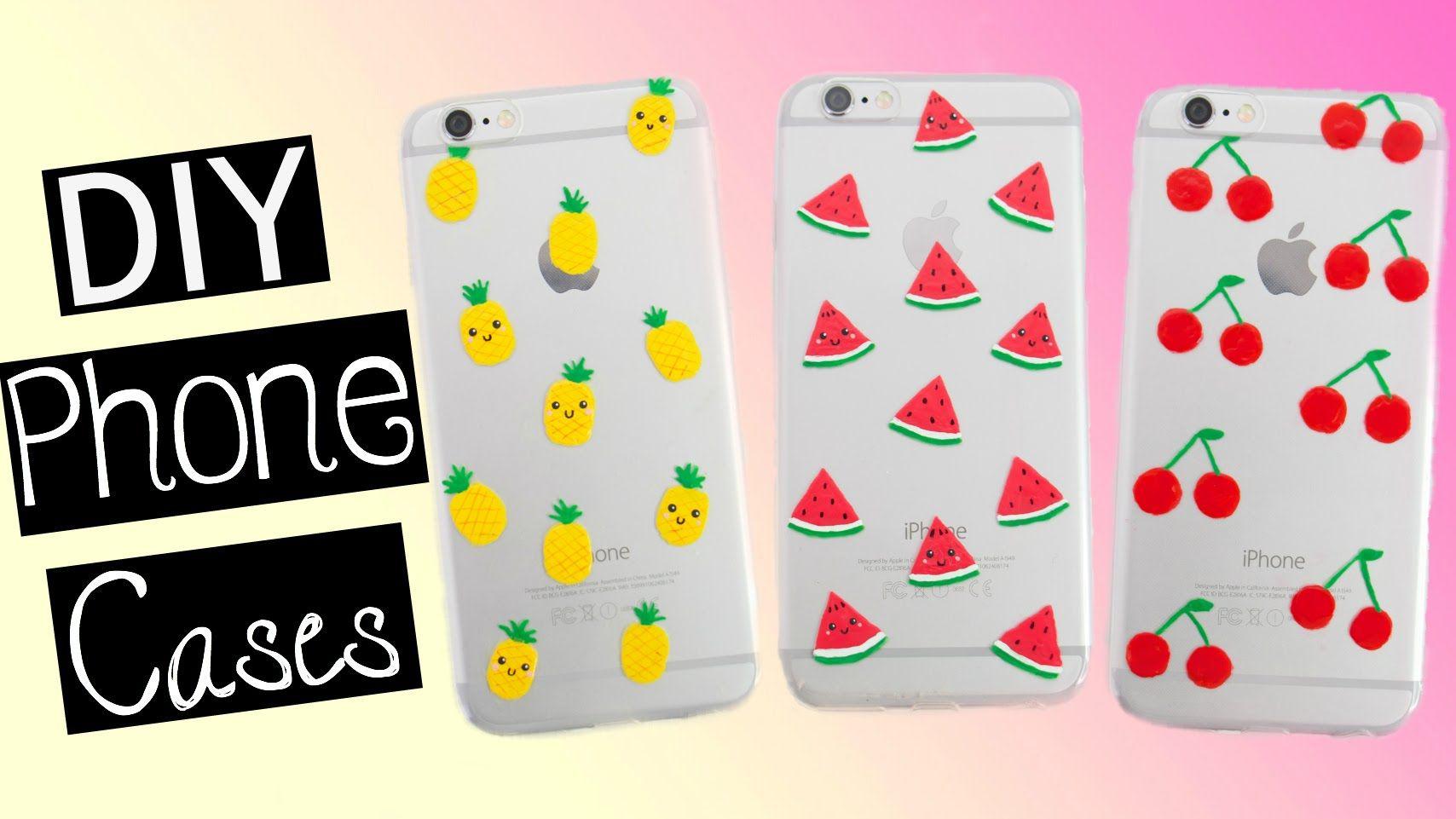 Diy Fruit Phone Cases Pineapple Watermelon Cherry Youtube