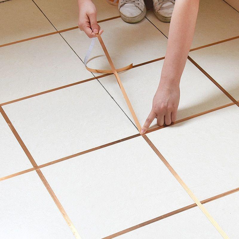 50m Gold Self Adhesive Tile Sticker Waterproof Wall Gap Sealing Tape Strip Floor Tile Beauty Seam Sticker Home D In 2020 Tile Floor Adhesive Floor Tiles Adhesive Tiles
