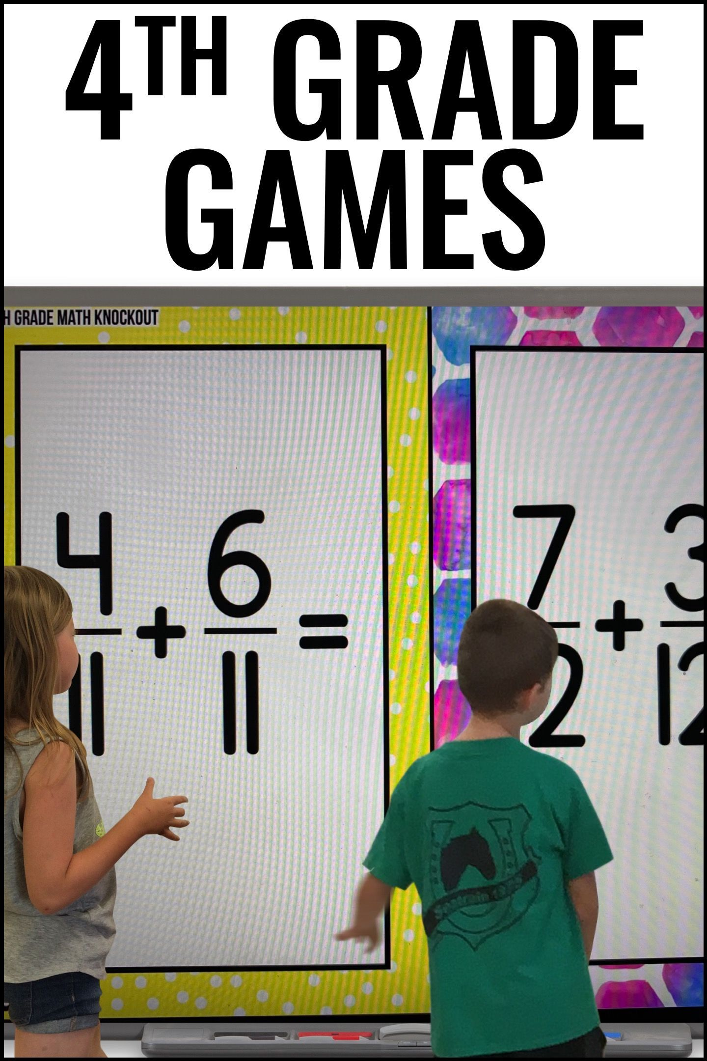 4th Grade Fraction Free Game Converting Improper