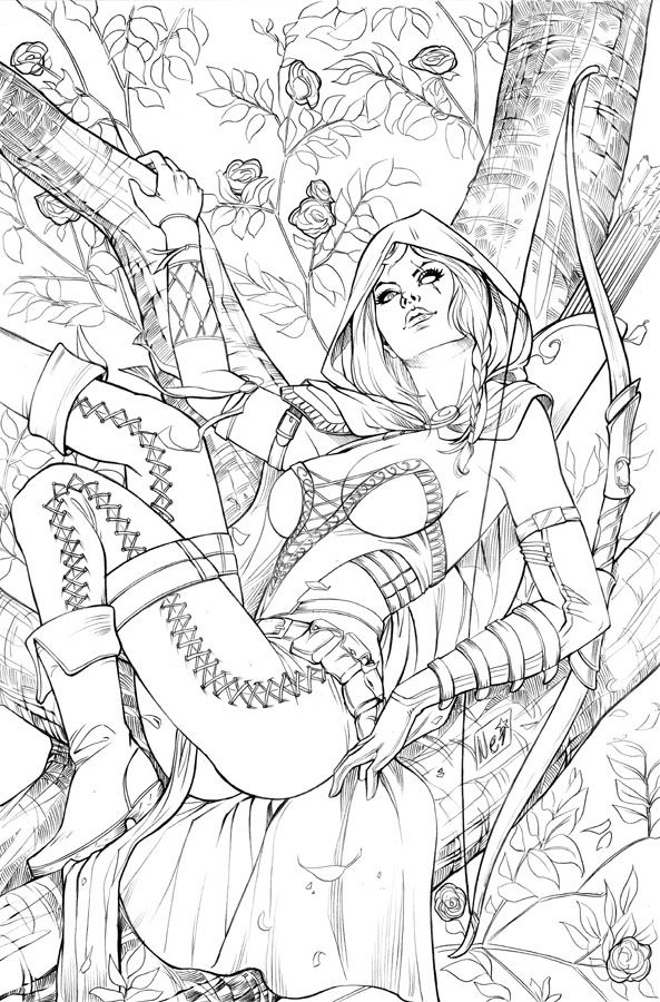 Consider, nude fantasy coloring pages