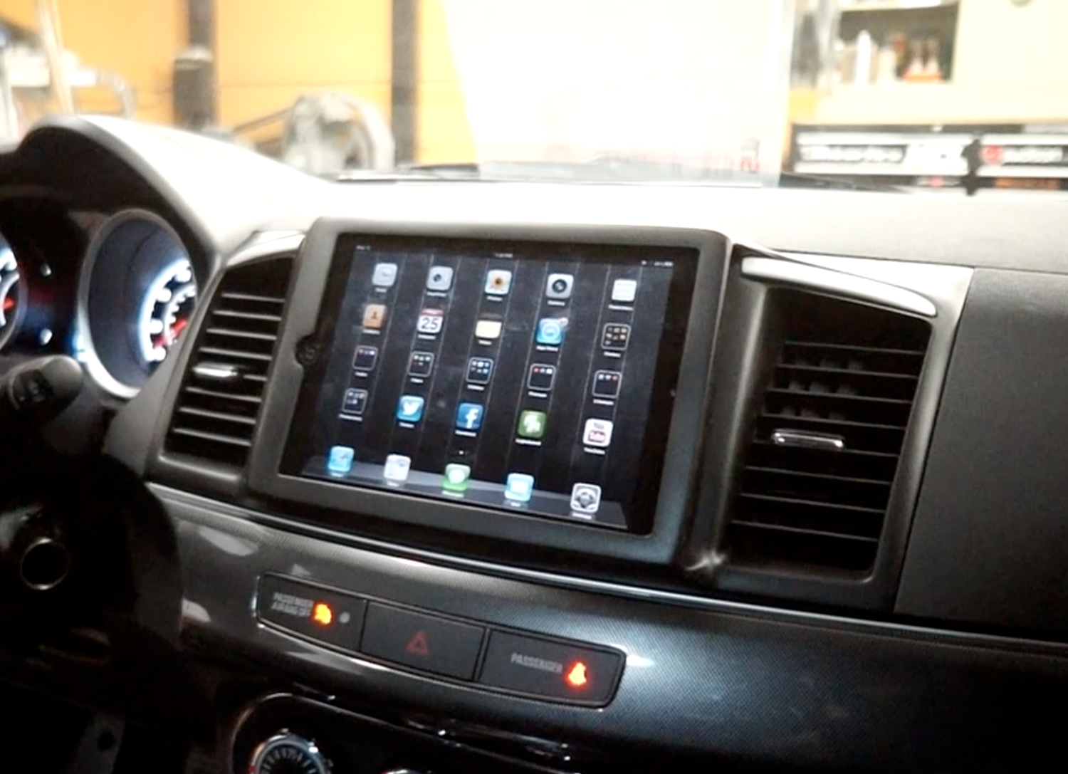 what you need to install your iPad into your dash ...