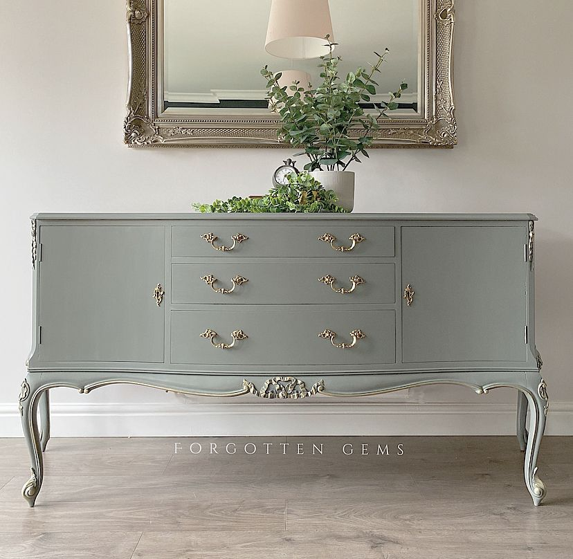 French Style Sideboard Painted in Fusion Mineral's Sacred