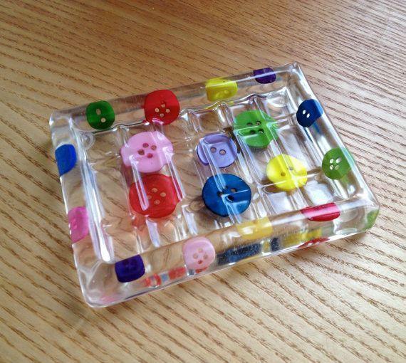 Handmade Button Soap Dish